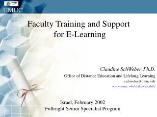 Faculty Training and Support 