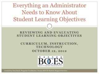 Everything an Administrator Needs to Know About Student Learning Objectives