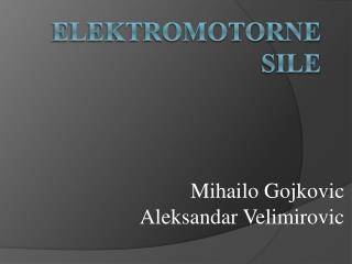 Elektromotorne sile