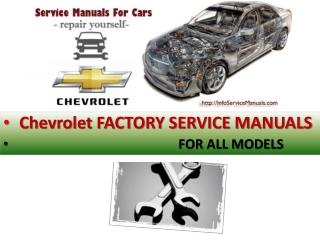 Chevrolet Service Manual pdf