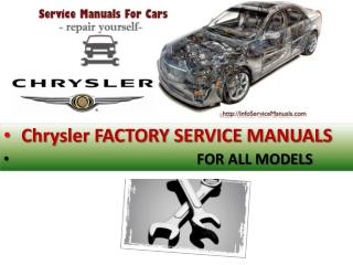 Chrysler service repair manual