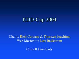KDD-Cup 2004