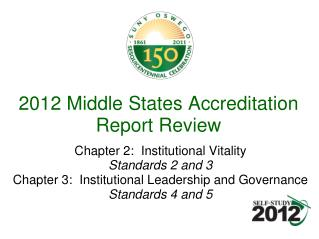 2012 Middle States Accreditation