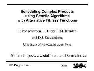 Slides: staff.ncl.ac.uk/chris.hicks