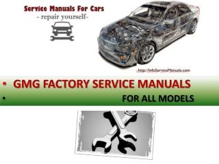 GMG workshop repair manual