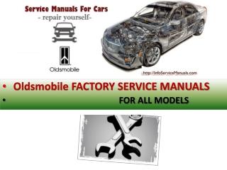 Oldsmobile service repair manual