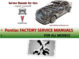 Pontiac factory service manual