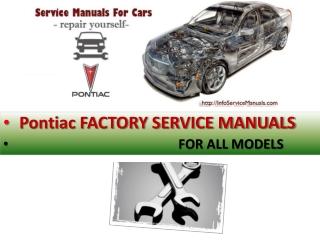 Pontiac factory service manual