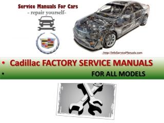 Cadillac repair service manual