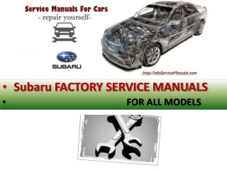 Subaru repair manual pdf