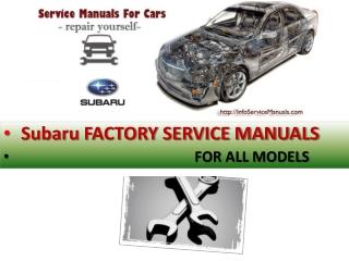 Subaru repair manual pdf
