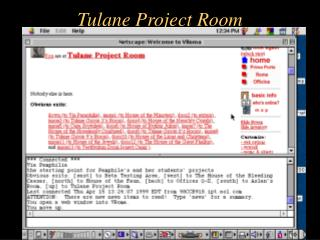 Tulane Project Room