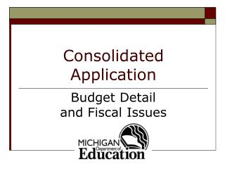 Consolidated Application