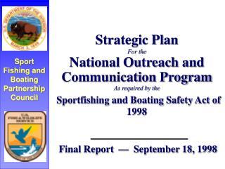Final Report  —  September 18, 1998