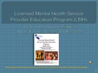Licensed Mental Health Service Provider Education Program LMH