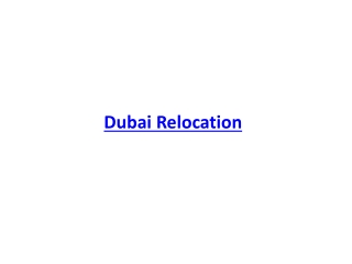 Dubai Relocation
