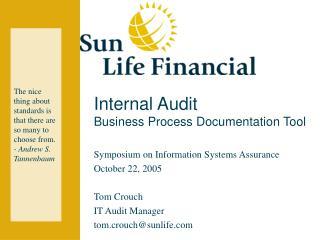 Internal Audit Business Process Documentation Tool
