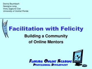 Facilitation with Felicity