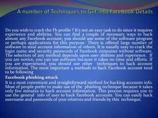 how to hack a Facebook