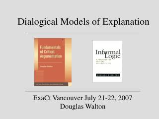 Dialogical Models of Explanation