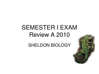 SEMESTER I EXAM Review A 2010