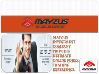 Start Forex Trading with Mayzus and Get Bonus !