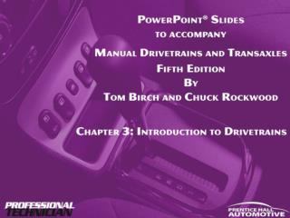 Manual Drivetrains and Axles