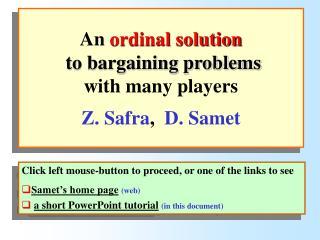 Bargaining problems