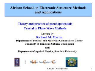 R. Martin - Pseudopotentials