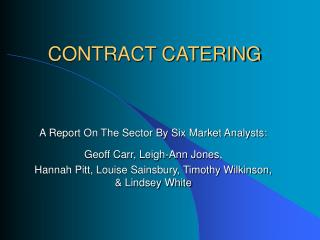 CONTRACT CATERING
