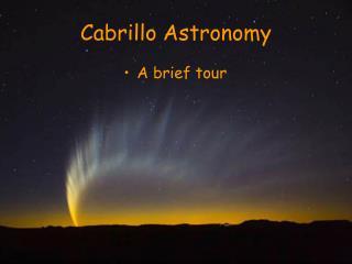 Cabrillo Astronomy