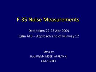 F-35 Noise Measurements