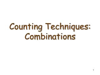 Counting Techniques: Combinations
