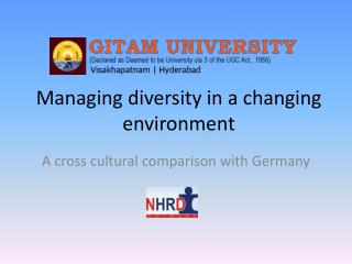 Managing diversity in a changing environment