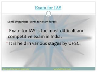 Best Preparation for Exam for IAS