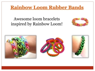 Rainbow Loom Video