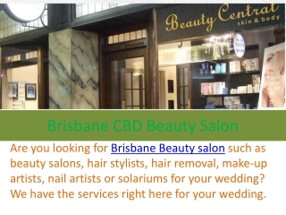 Brisbane CBD Beauty Salon in Brisbane