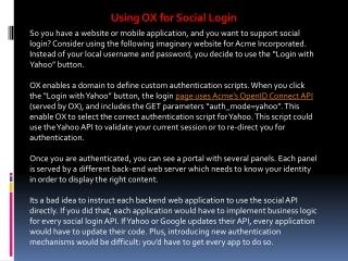 Using OX for Social Login
