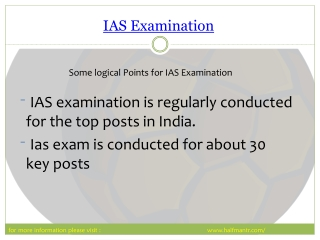 Free PPT about IAS Examination preparation
