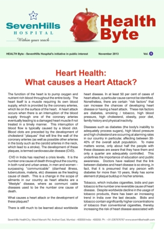 Health Byte, Nov 13 - Monthly Health Magazine by SevenHills