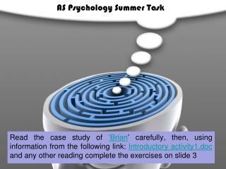 AS Psychology Summer Task
