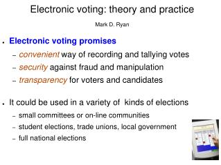 Electronic voting -- context