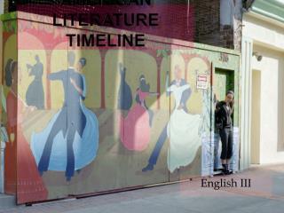 American Literature  Timeline