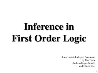 Inference in 