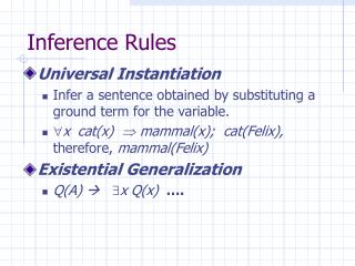 Inference Rules