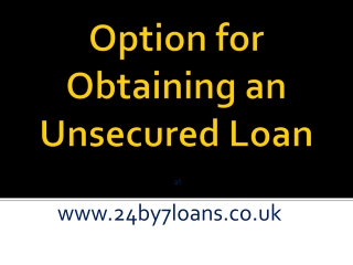 How we can get Unsecured Loan