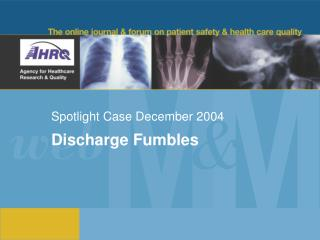 Spotlight Case December 2004