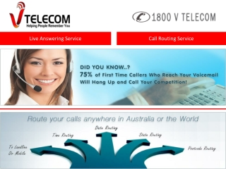 Live Answering and Call Routing