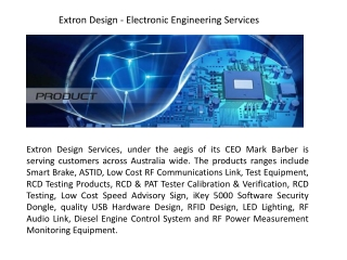 Extron Design - Electronic Engineering Services