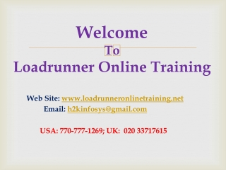 Loadrunner Online Training and Placement Assistance